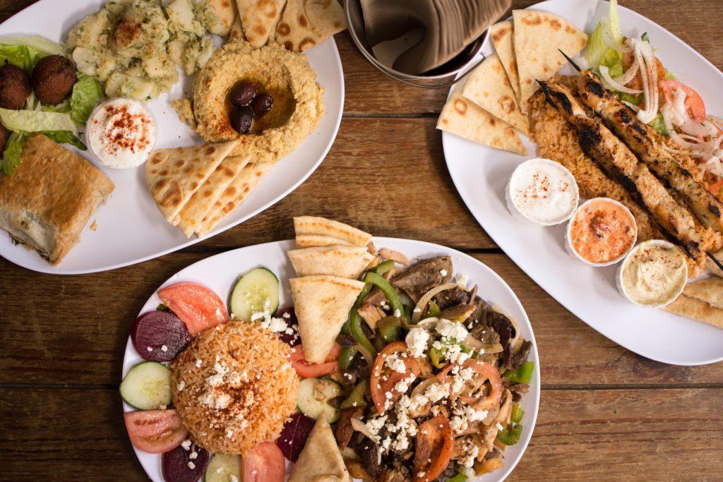 Mediterranean food, looks delicious!