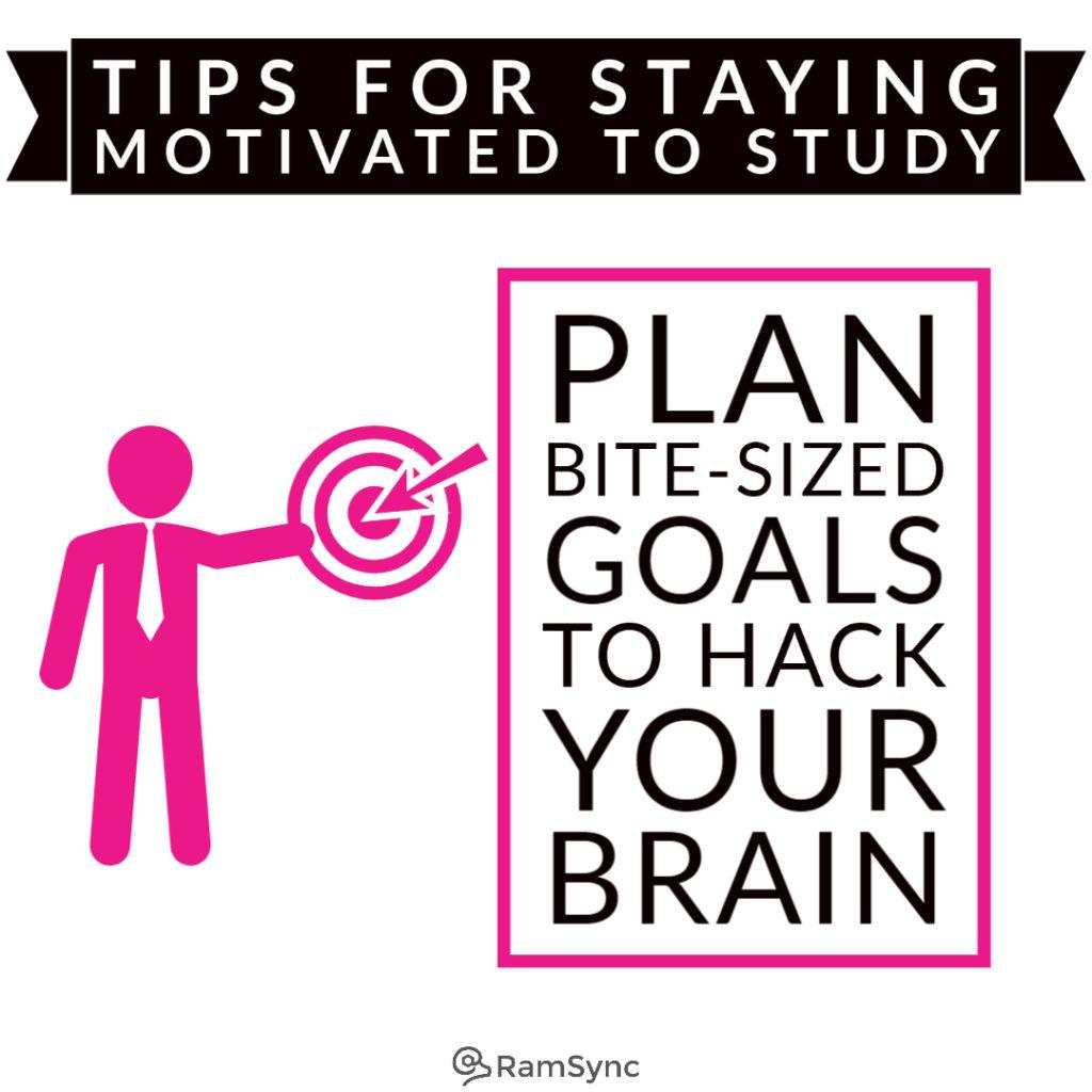Study tip: Plan reasonable goals!
