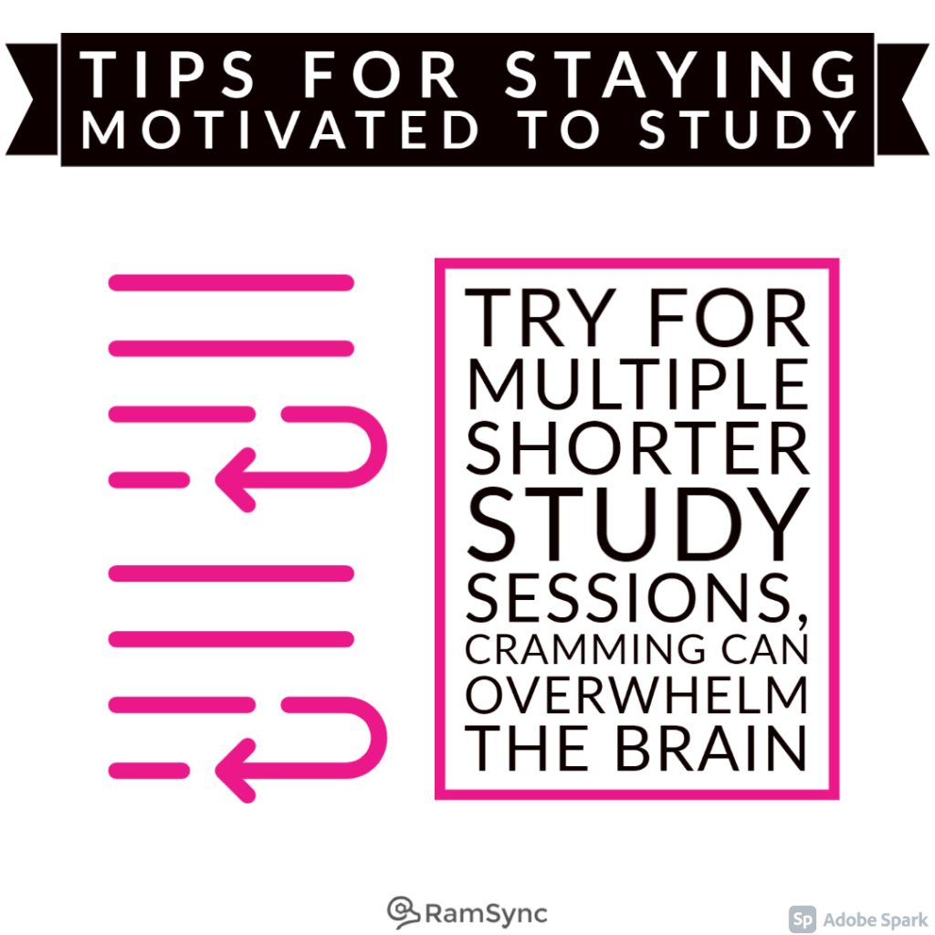 Study tip: Space out your study sessions, a little every day is better than a cram session!
